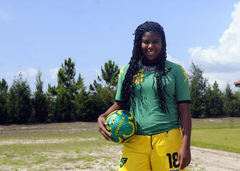 Seventeen-year-old Kayla Gray helped lead the under-20 Jamaican women's team to a 3-0 record in Group Four of the Caribbean Football Union Women's Qualifying Tournament July 23 to July 27.