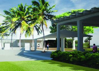 Planned renovations of the pavilion at Siesta Beach will expand the facility while respecting architect Tim Seibert's original design. (Courtesy rendering)