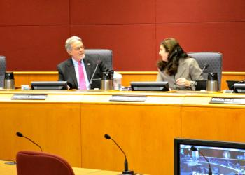 Sarasota County Commissioners Joe Barbetta and Christine Robinson differed in opinion Friday on whether to tap county reserve funds for future projects.