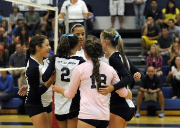 The ODA volleyball team defeated Sarasota Christian in five games Sept. 6.