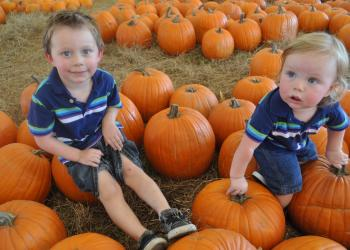 Hank and Cash Howard are veterans at the Pumpkin Festival so they know where to spend their time.
