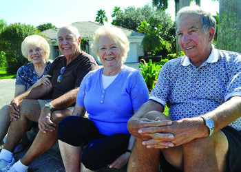 Nancy and Thomas Kramlick and Edie and Karl Bender have lived on their cul-de-sac for 20 years. They and two other couples — the Barkers and the Johnsons — are nicknamed the Over the Hill Gang.