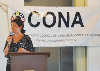 CONA President Lourdes Ramirez said existing urban infrastructure should be used to support Sarasota County's projected population growth.