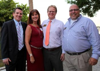 Corey Schaul, Morgan Stanley, Tammy Halsted, St. Armands Travel, Mike Gray, Century 21, and Sam Asfur, Century 21