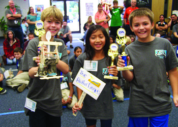 Courtesy photo. McNeal Elementary students Gavin Rieth, Supawadee Surattanont and Zac Bayor took home second-place awards.
