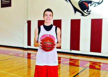 In his second varsity season, junior guard Ryan McMahon has become one of Cardinal Mooney's leading scorers.