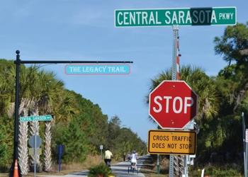 The Legacy Trail currently stretches more than 10 miles from Venice to just south of the city of Sarasota.