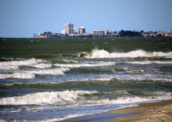Turtle Beach, located at the southern end of Siesta Key, is hit with heavy surf following a cold front in January 2014.
