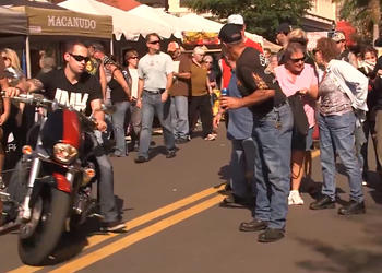 The 2014 Thunder by the Bay motorcycle brought a drivers group of attendees into downtown Sarasota.