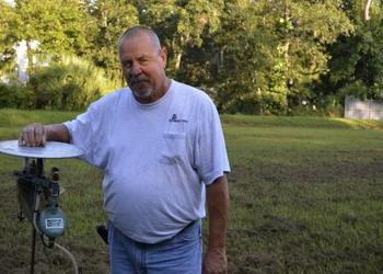 John Goreham, an eight-year veteran of Sarasota County Mosquito Management, uses a variety of techniques to control the mosquito threat, including pesticides, a local species of fish that eats mosquito larvae and sentinel chickens.