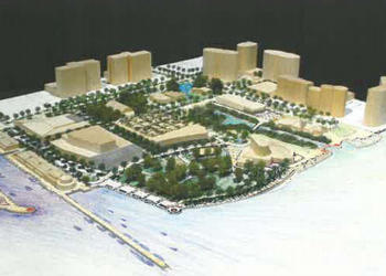 This rendering depicts the vision outlined in the 2007 Cultural Park Concept Plan — a vision that never came to fruition due to the onset of unfavorable economic conditions.
