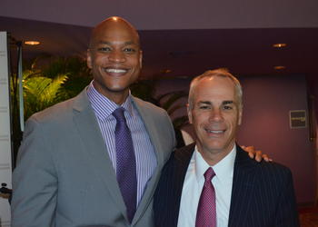 Wes Moore with Town Hall Lecture Series Chair Jay Logan