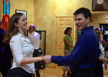 Jessica Keesecker dances the Cha-Cha with choreographer Jonathan Roberts.