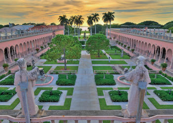 The museum courtyard (Courtesy The Ringling)