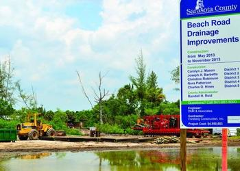 Sarasota County staff originally proposed the Beach Road Drainage Improvements in 2005.