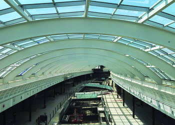 This photo, taken April 3, shows the interior of the mall concourse from the second floor. Courtesy of Taubman Centers