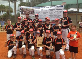 The Sarasota Cal Ripken 10U All-Star team is 16-0, having won state and regional championships since it formed earlier this summer. Courtesy photo