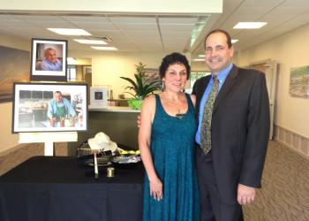 Carol Diamant and Eli Brickman hosted friends Saturday, Oct. 11, at a celebration of life service for their late father, Ed Brickman.