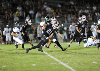 Riverview running back Oshea Grant rushed for 97 yards and two touchdowns. He also caught a 4-yard touchdown pass.