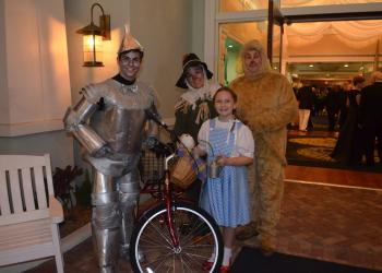 Noah Schinault with Angie, Olivia and Joe Garland, from the Manatee Performing Arts Center, welcomed guests.