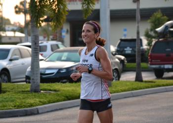 Rachel Chambers had the second fastest time for the 5K Fun Run Saturday morning.