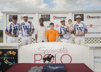 The Wildcat team defeated Tito's in overtime Sunday, at the Sarasota Polo Club, during the final of the first 8-goal match in January, presented by Wesco Turf. Courtesy photo