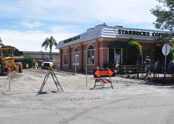 "Renovations began Sept. 7 to remodel Starbucks Midtown Plaza with new wood floors, walls — and finally — a drive-through. Stay tuned for the grand-opening celebration and free beverage date by ""liking"" the store on Facebook."