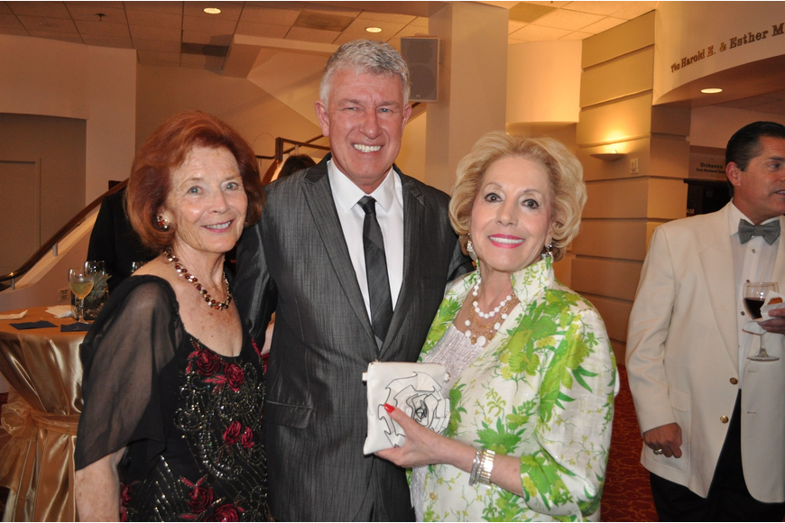 Honorary chairwoman Ruth Kreindler, Michael Donald Edwards and chairwoman Lee Peterson