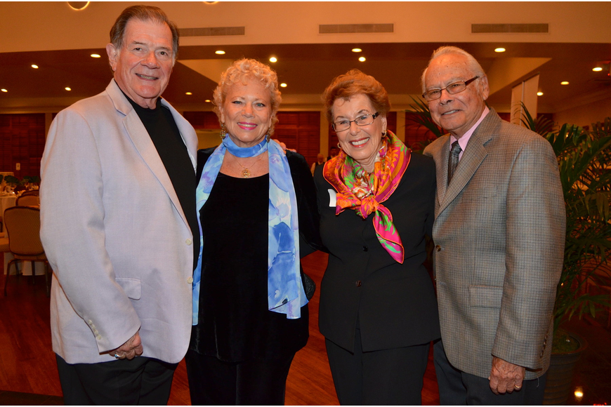 Edward Alley and June LeBell with Carole and Dr. Ira Singer
