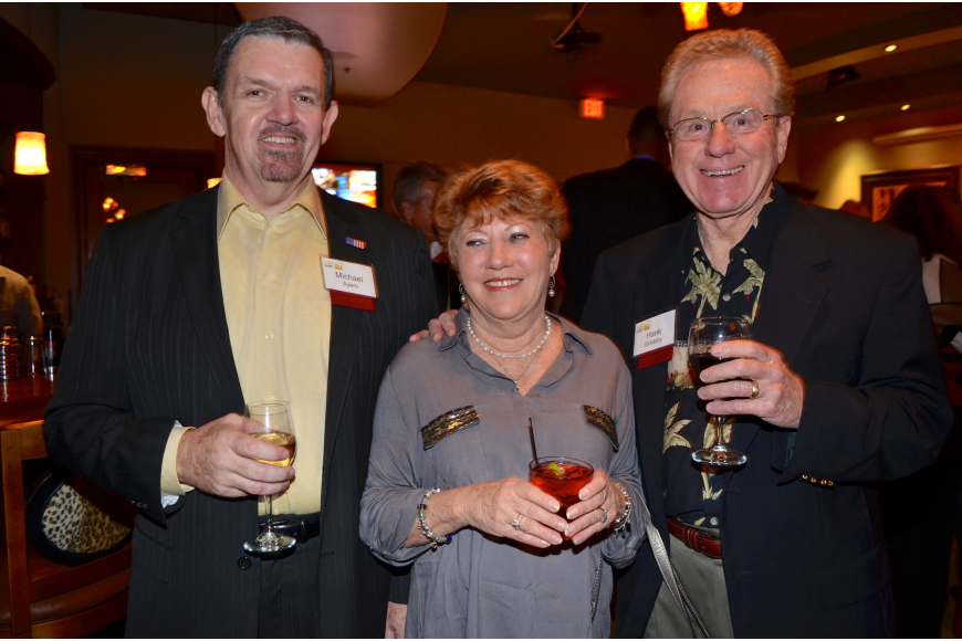 Michael Ayers with Marsha and Hank Goldsby