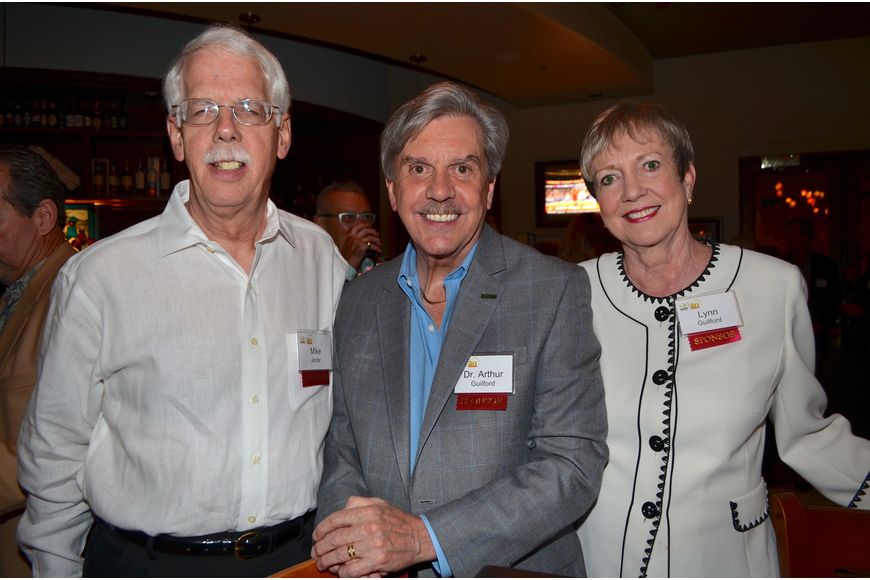 Mike Jerde with Dr. Arthur and Lynn Guilford