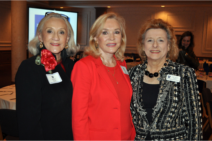 Sharon Black, board president Margaret Wise and Pat Riley
