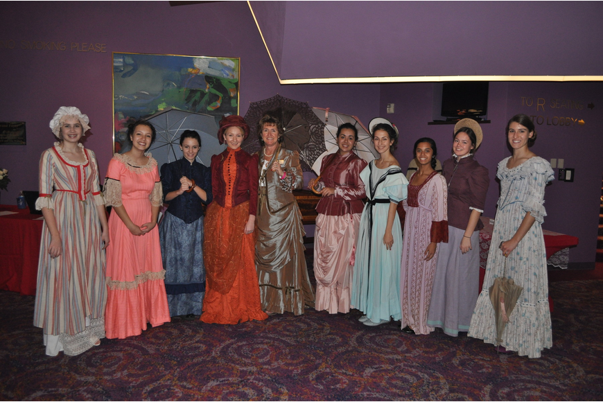 Van Wezel Foundation volunteers dressed up in period clothing for the opening night party.