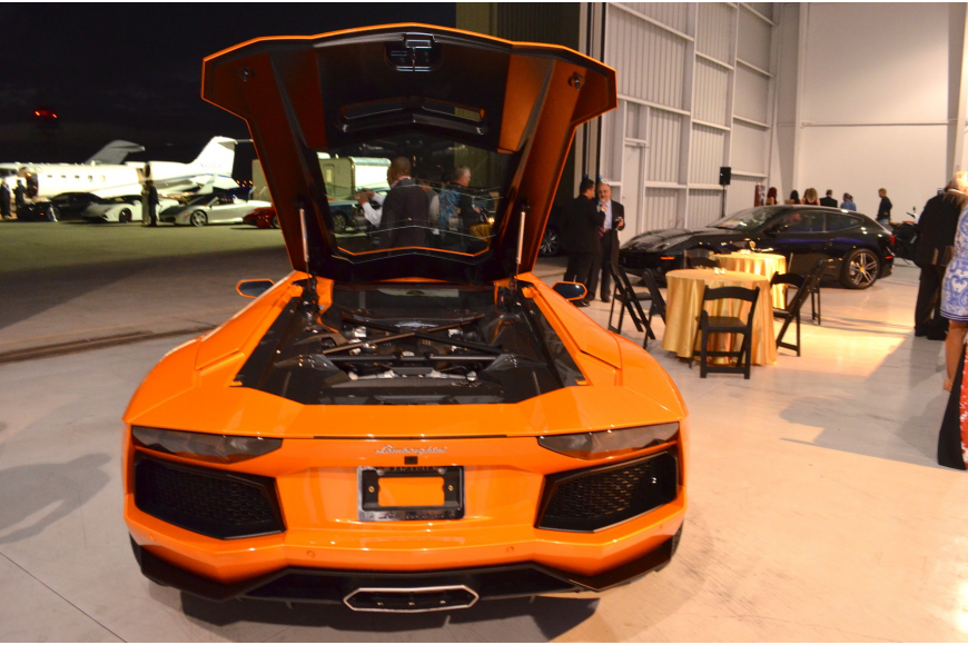 Exotic cars were on display at the Sarasota Exotic Car Fest Jet Port Reception Friday, Feb. 21, at Rectrix Aerodrome Center.