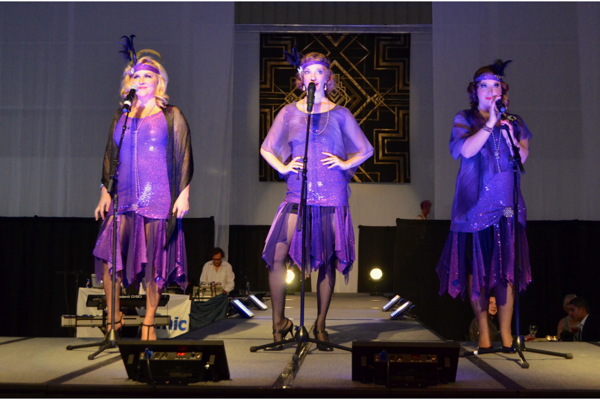 The Vocal Vixens performed at the Sarasota Exotic Car Fest Jet Port Reception Friday, Feb. 21, at Rectrix Aerodrome Center.