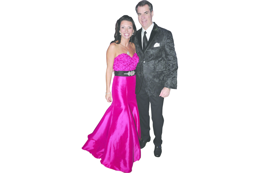 Aimee and Chris Cogan at New College Foundation's Inaugural Ball Feb. 16, at New College of Florida.