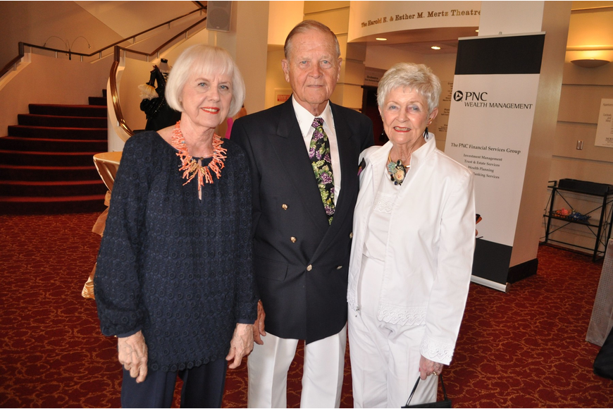 Carol Phillips with Don and Jo Ann Burhart