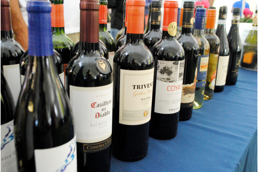 Guests sampled wines on the bayfront grounds of Van Wezel Performing Arts Hall Saturday, April 12, for the Florida Winefest and Auction Grand Tasting.