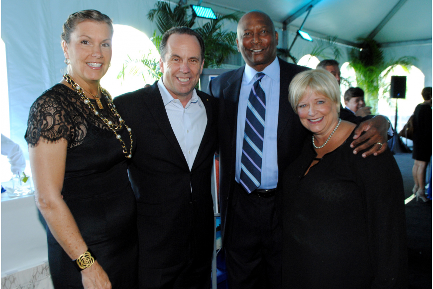 Tish and honoree Mike Brey with Gary and Renee