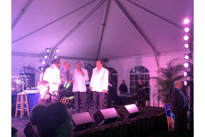 "The Four Tops sang Dick Vitale ""Happy Birthday"" on stage for his 75th surprise birthday celebration."