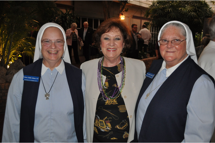 Sister Edith Aliano, Mary Lemay and Sister Gilchrist Cottrill