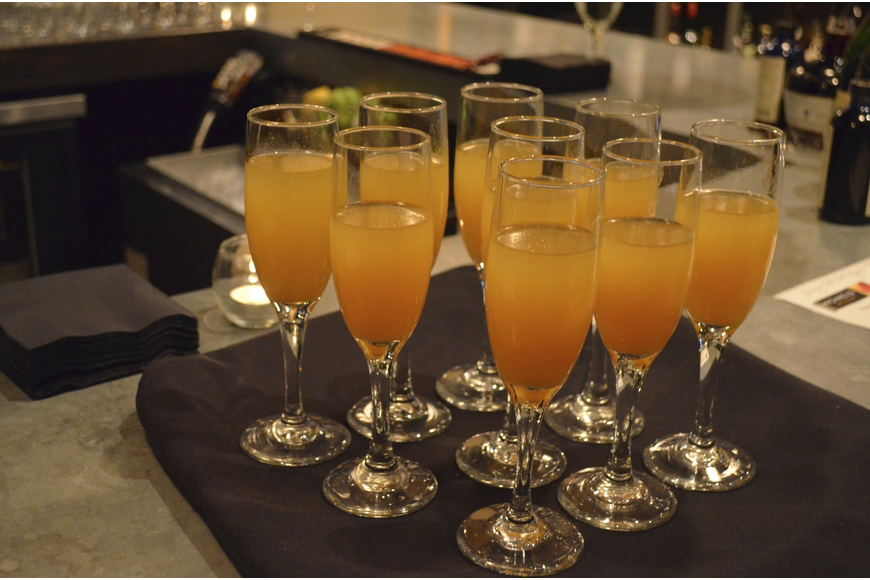 Classic Peach Bellini's were offered at the champagne tasting.