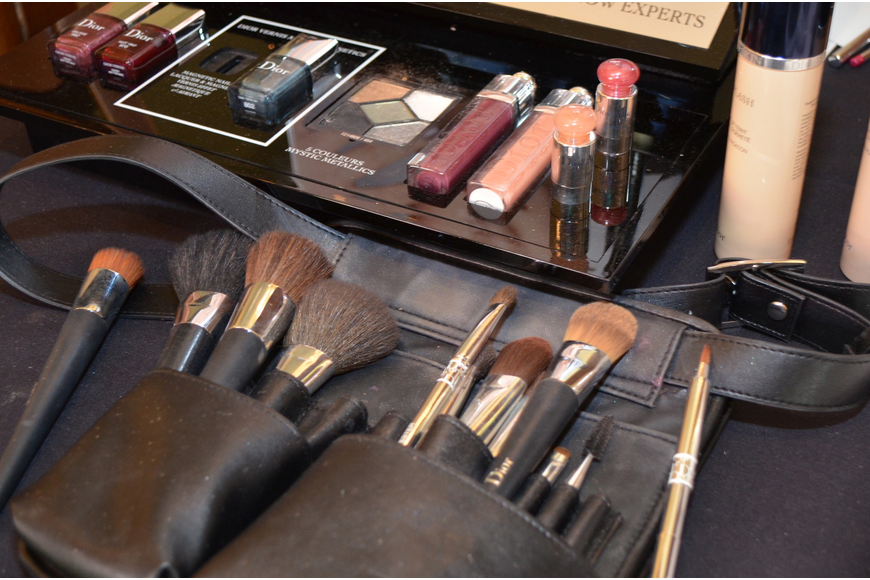 Saks Fifth Avenue provided a Dior makeup station for guests at the fashion show luncheon.