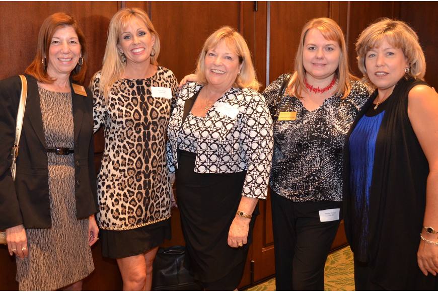 Mary Anne Kett, Gina Serena, Kathy Burns, Heather Perkins and JoAnn Lewis
