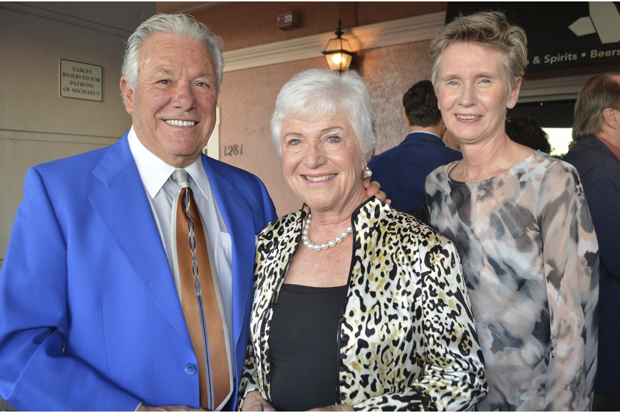 Les and Carol Brualdi with Cynthia Russell