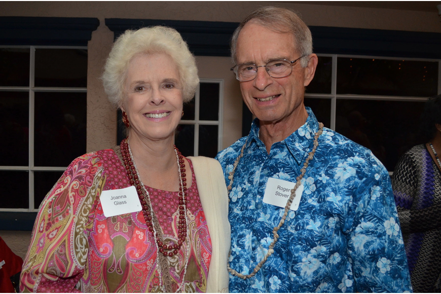 Joanna Glass and Roger Stover