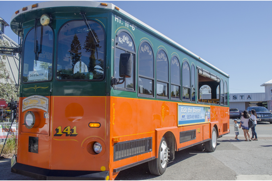 The Siesta Key Breeze trolley recorded more than 10,000 rides in its first week serving the island.