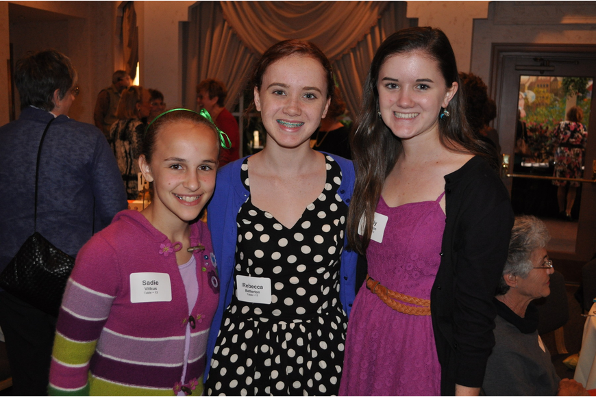 Sadie Vitkus, Rebecca Betterton and Molly Betterton
