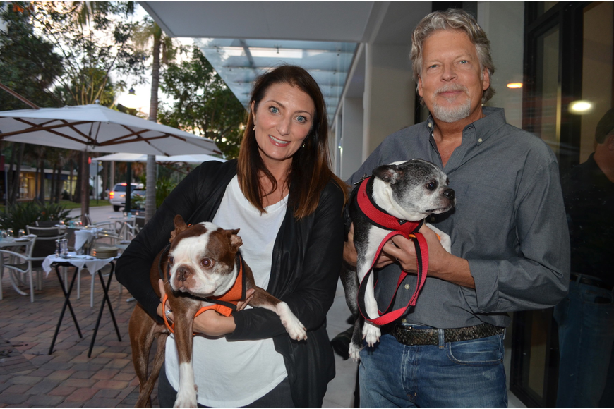 Heather Dunhill and Ted Meekma with Rocco and Lucy