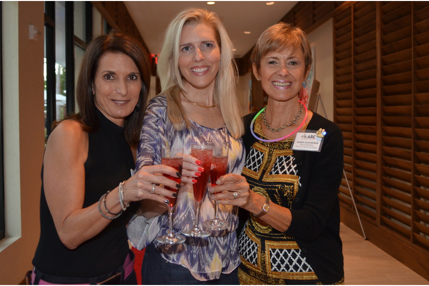 ARC executive director Gisele Pintchuck with co-chairs Shelley Sarbey and Karin Gustafson